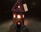 Fairies, fairy home, LOTR style hobbit light up home