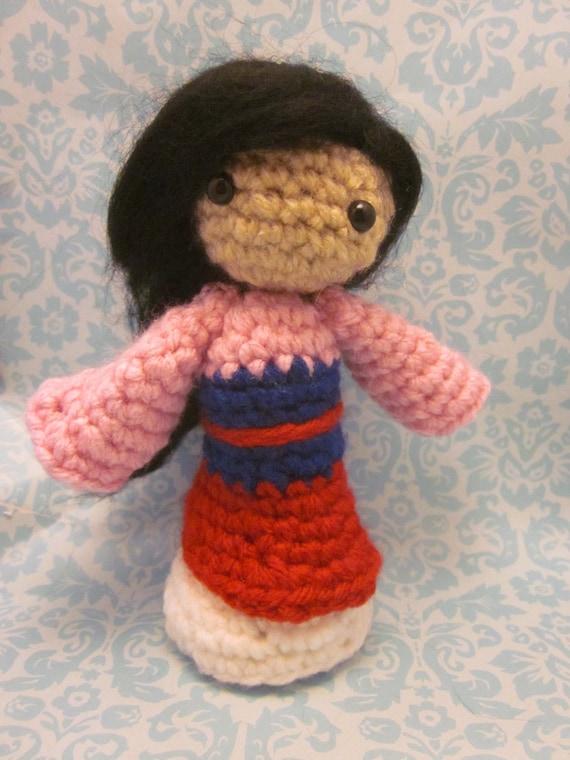 Items similar to Princess Mulan Inspired Amigurumi ...