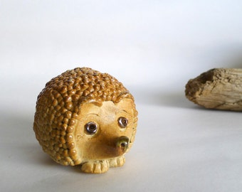 Hedgehog Sculpture - Hedgehog Figurine - Soda Fired Hand Built Pottery