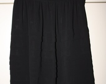 SALE From 25.00 Black Chiffon Knee Length Pleated Skirt