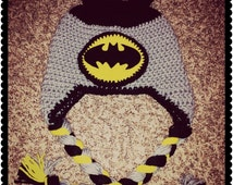 CROCHET PATTERN-Bat Hat-Batman Inspired-Superhero Crochet hat-size 0 months to adult-Instant Download