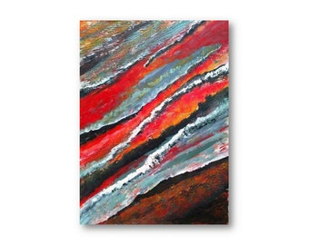 Sale Modern Art Original art Africa I abstract colors of Africa full sheet 22 x 30 painting original mixed media rich colors texture