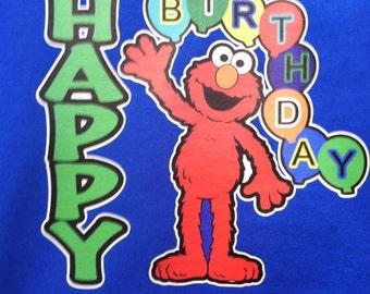 Personalized Elmo first birthday shirt boy girl