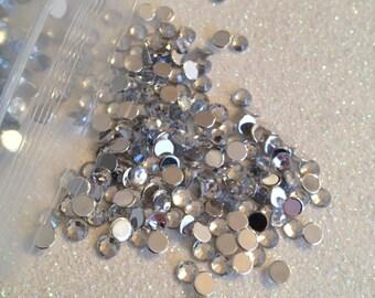 4mm - 1000 pieces - clear rhinestones  - U.S. SELLER -  DIY, bling, flatback