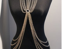 silver body chain necklace body chain jewelry harness body chain necklace