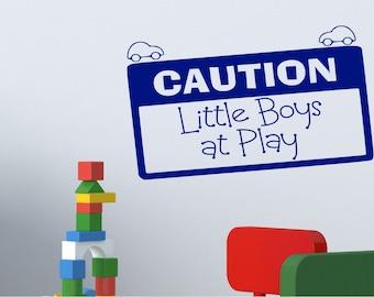 Playroom Decal - Boys Room - Vinyl Decals - Wall Decals - Nursery decals - Boy Decals - Decals - Vinyl