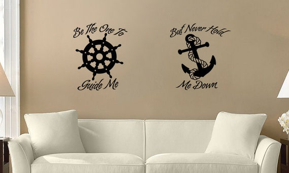 Home decor helm and anchor home decor wall vinyl by eckdesigns for Best home decor on etsy