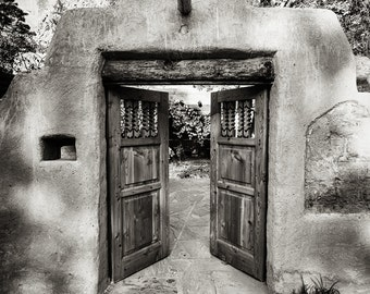 Black & White Photography, Doorways, Door Photo, Travel Photography, New Mexico, Fine Art Print, Portal, Spiritual Transformation, Journey