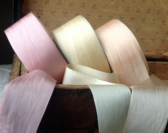 dusty pink silk ribbon