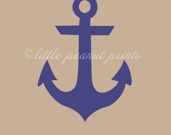 8x10 or 11x14 Nautical Anchor Nursery Art Print