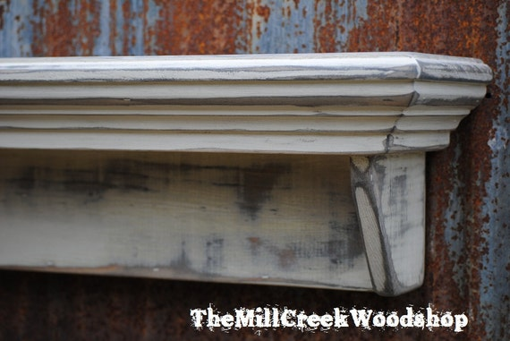 distressed wall shelf 36 french country crown molding
