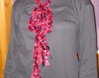 BELT Or SCARF - Can Be Worn Either Way. Handmade with BOA (Eyelash) Yarn.