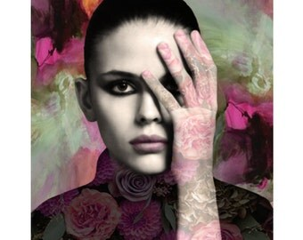 Abstract portrait, modern art, photomontage, digital print, fine art, digital art, fantasy, modern portrait, portraiture, contemporary