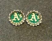Oakland A's Stud Earrings