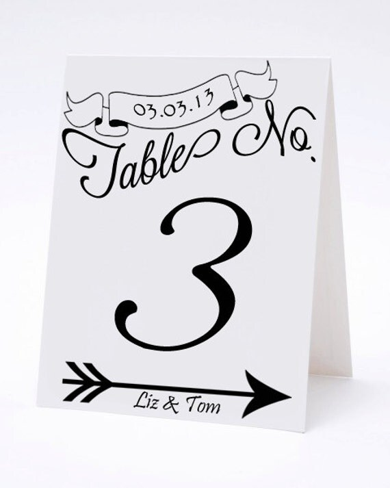Vintage calligraphy wedding table numbers the julia