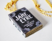 Jane Eyre mini book necklace