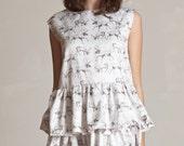 On Sale Hand drawn reindeer dress On Sale !!Last one!