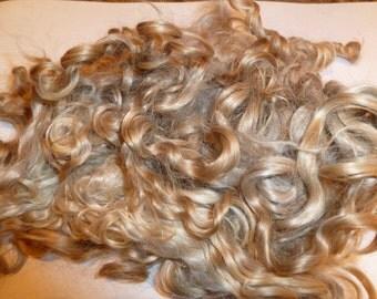 Premium Kid Mohair wool locks , colour champagne blonde