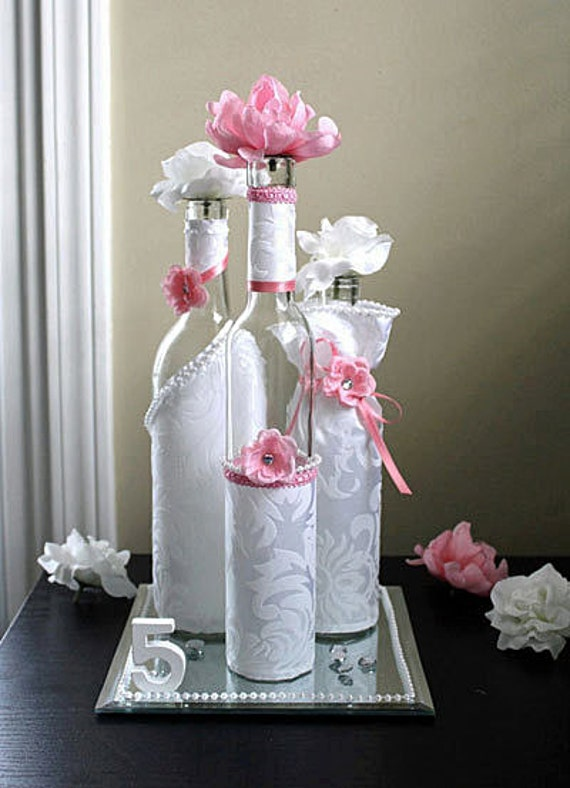 Wedding wine bottle table decorations photograph win for Wedding table decorations with wine bottles