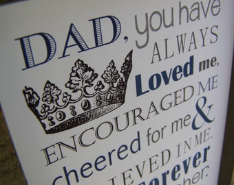 Dad Gift. Print and Pop into any frame. DIY Instant Download Print from Home. Dad Birthday Gift. Fathers Day Gift