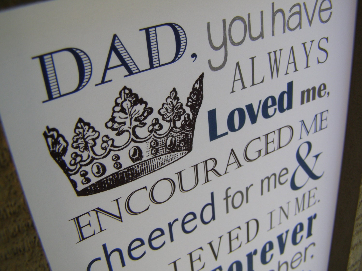 Dad Gift. Print and Pop into any frame. DIY Instant Download