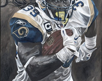 """Steven Jackson 13"""" x 20"""" Limited Edition Stretched Canvas Print"""