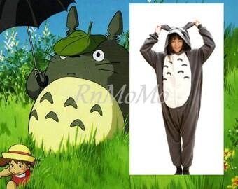 All onesies 40% OFF  KIGURUMI Cosplay Romper Charactor animal Hooded Night clothes Pajamas Pyjamas Costume Sleepwear dark totoro