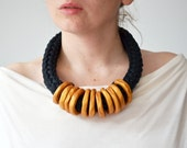 Gold statement necklace/Tribal necklace/Dramatic necklace/Big bold statement necklace/Golden Necklace/ Large Necklace/Edgy