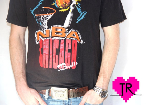 Old school hoops vintage 1980s nba chicago by for Old school basketball t shirts