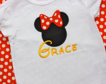 Disney Minnie Mouse Shirt - Personalized - Trip - Disney World - Mickey Mouse - Birthday - Gift
