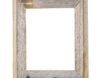 "11x14 –2"" wide Barnwood Reclaimed Wood Open Frame (No Glass or Back)"