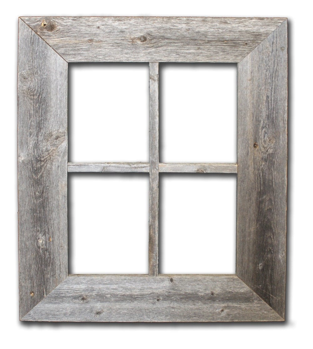 Rustic Barn Wood Window Frame by RusticDecorFrames on Etsy