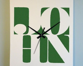 Personalized Canvas Word Art Clock - Customized Names (Medium)