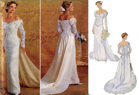Wedding bridal gown dress pattern by designrewindfashions for Plus size wedding dress sewing patterns