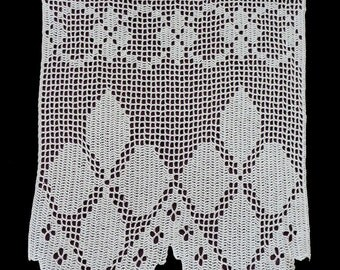 Crocheted valance | Etsy