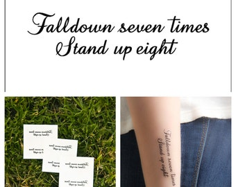 Stand for Something - temporary tattoo (Set of 2)