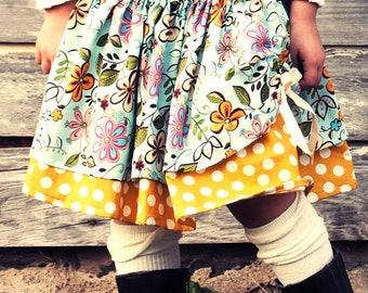 Kitty Twirl scallop skirt - pdf Tutorial - 3m - 12y