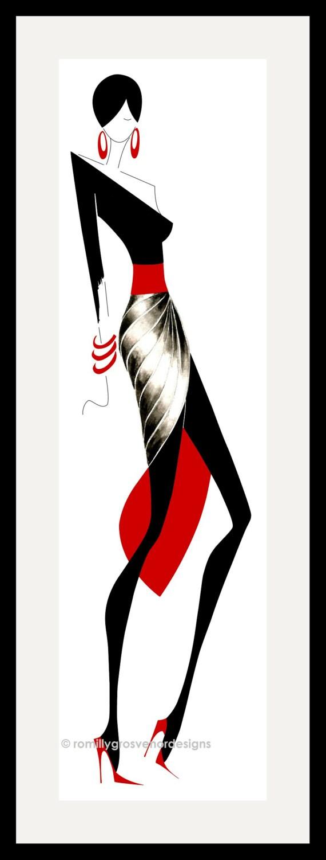 Fashion Illustration Elegance 1 Wall Art Fashion Design