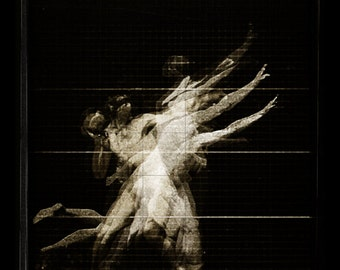 """8"""" x 10"""" Digital Photographic collage: """"After Muybridge 3"""" - FREE SHIPPING"""
