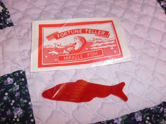 Fortune teller miracle fish in original package old store for Fortune teller fish