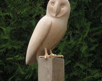Hard wood carved bird