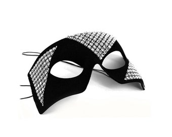 Edge Black-Silver Men's Masquerade Mask - A-1181S-E