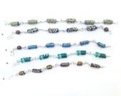 African jewelry, African bead bracelet, wire wrap bracelet, beaded bracelet, unisex jewelry