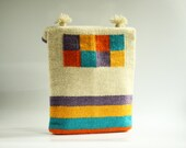 Bright Colors Summer Hand-woven Purse - Wool Purse - Handmade purse - TheColorfulLoom