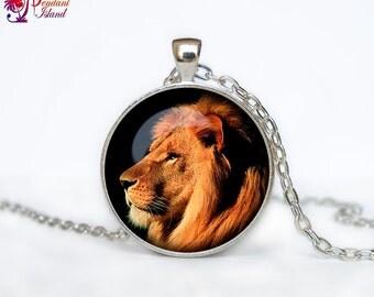 LION PENDANT lion necklace lion jewelry art  jewelry for men for women animal pendant