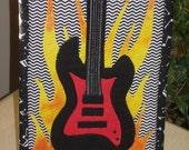MUG RUG PATTERN  Rock On - Guitar Mug Rug Pattern (Instant Digital Download)