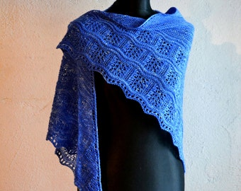 Kind Of Blue shawl - PDF knitting pattern