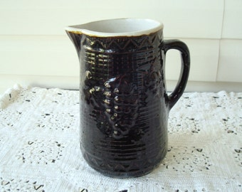 Vintage Milk Pitcher - Ceramic Glazed Milk Pitcher - Ceramic Glazed Pottery