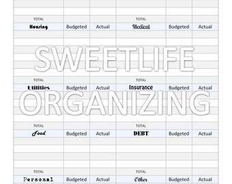 Monthly Budget Worksheet - Digital Instant Download - Financial ...