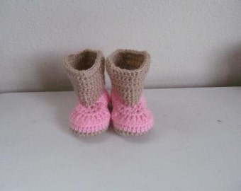 Hand Crocheted Baby Cowgirl Boots